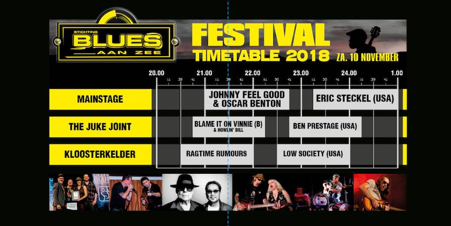 Blues Aan Zee 2018 Timetable