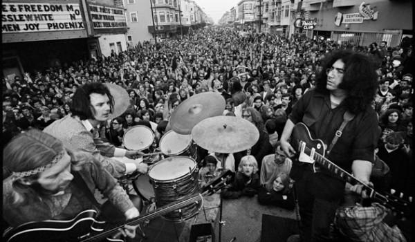 The Grateful Dead on Haight St 1968